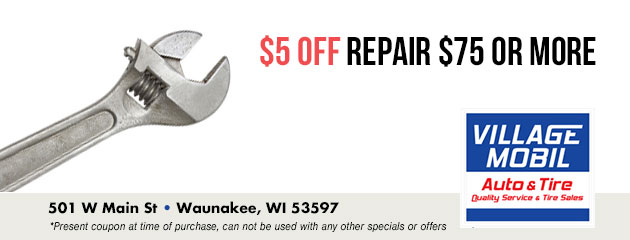 $5 off repair $75 or More
