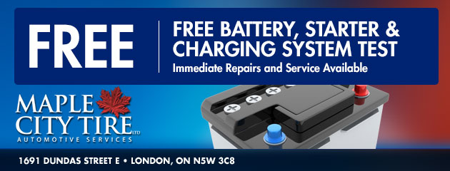 Free Battery, Starter & Charging System Test