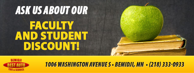 Ask us about our faculty and student discount!