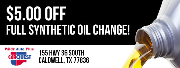 $5.00 Off Full Synthetic Oil Change!