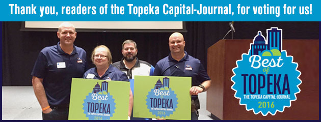 Thank you, readers of the Topeka Capital-Journal, for voting for us