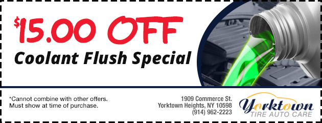 Coolant Flush Special $15.00 Off