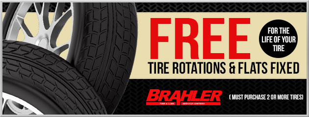 Free Tire Rotations & Flats fixed for the LIFE of your tire