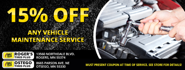 15% Off Maintenance Service