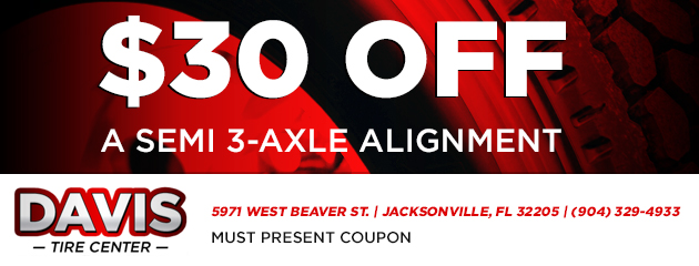 $30 off a semi 3-axle alignment