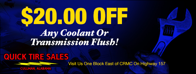 $20.00 Off any coolant or transmission flush