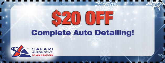 $20 Off Complete Auto Detailing!