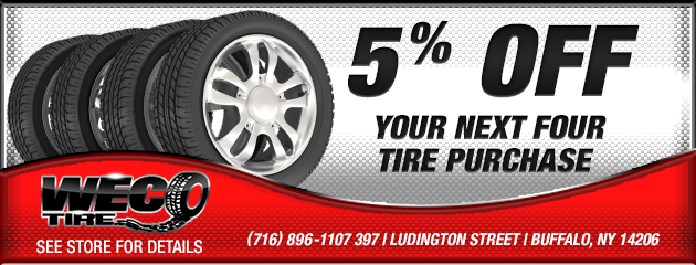 5% Off Your Next Four Tire Purchase