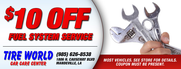 Description	 $10 off Fuel System Service