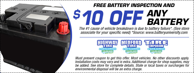 $10 Off Any Battery Special