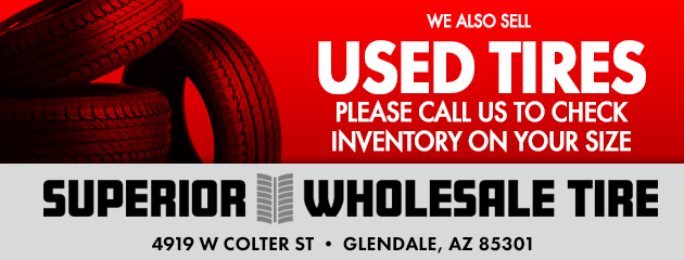 We also sell used tires