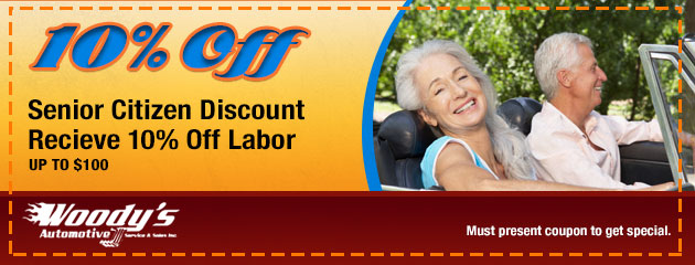 10% Off Senior Citizen Discount