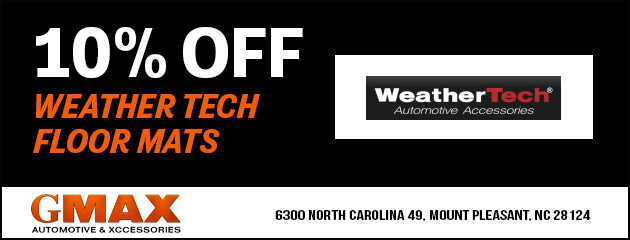10% OFF WEATHER TECH FLOOR MATS