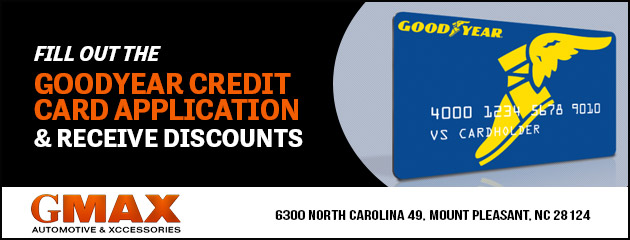 FILL OUT GOODYEAR CREDIT CARD APP & RECIEVE DISCOUNTS