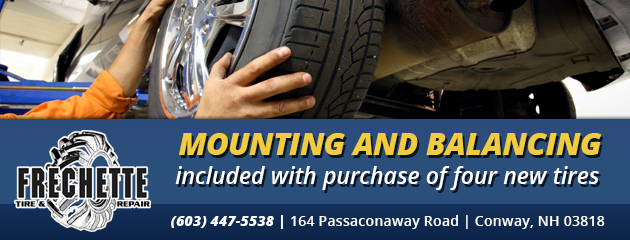 Mounting and Balancing included with purchase of four new tires