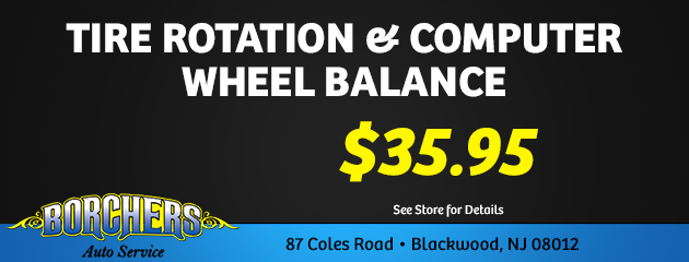 Tire Rotation & Computer Wheel Balance