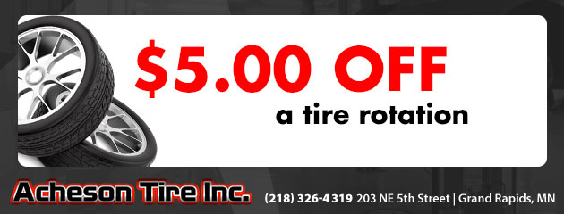 $5.00 off a tire rotation