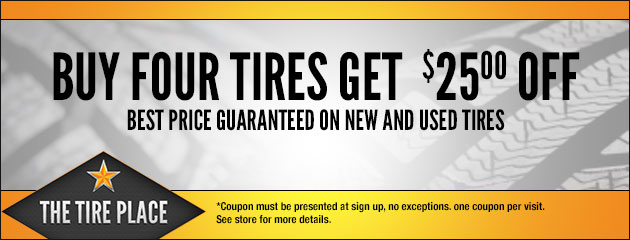 $25.00 Off 4 Tires