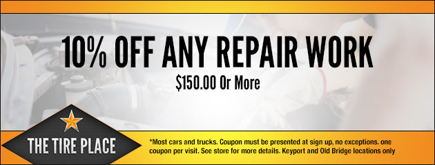 10% Off Any Repair Work of $150 Or More