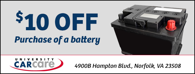 $10.00 off purchase of a battery