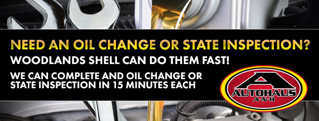 Need an oil change or state inspection?