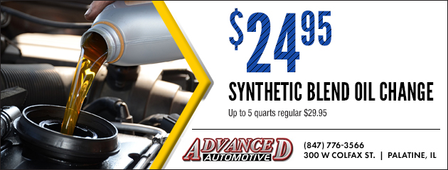 $24.95 synthetic blend oil change