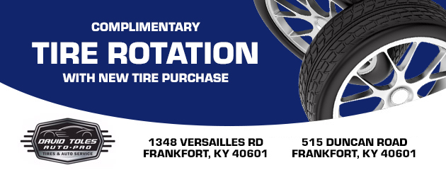 Complimentary tire rotation with new tire purchase