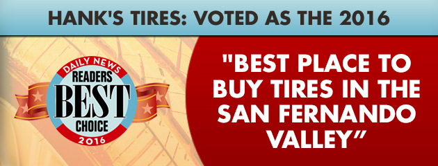Hank's Tires: voted as the 2016