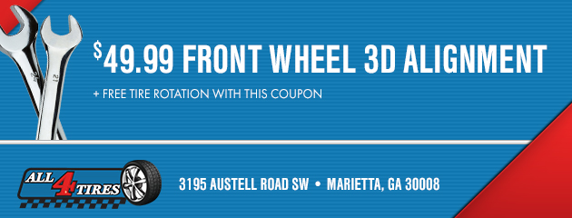 $49.99 Front Wheel 3D Alignment