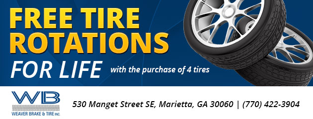free tire rotations for life with the purchase of 4 tires
