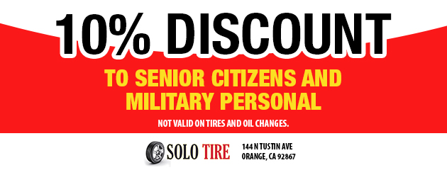 10% Discount for Seniors/ Military