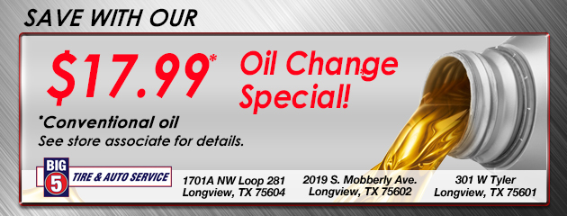 $17.99 oil change special