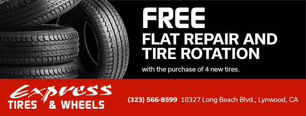 Free flat repair and tire rotation