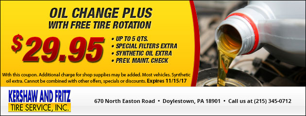 Lube, Oil & Filter Special - $29.95