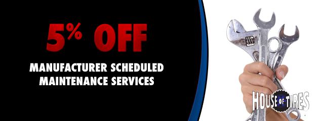 5% off manufacturers scheduled maintenance services