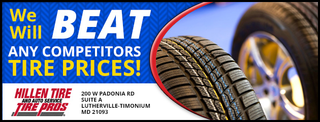 We will beat any competitors Tire Prices!