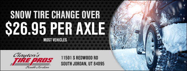 SNOW TIRE CHANGE OVER *** 26.95 PER AXLE ***