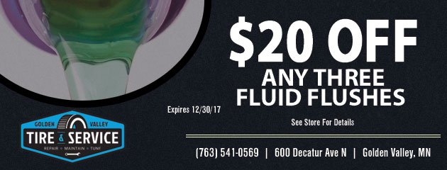 $20 off any three fluid flushes
