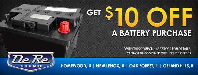Get $10 off a battery purchase