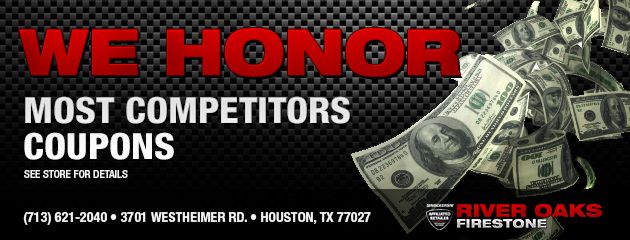 We honor most competitors coupons