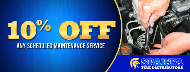 10% off any scheduled maintenance service