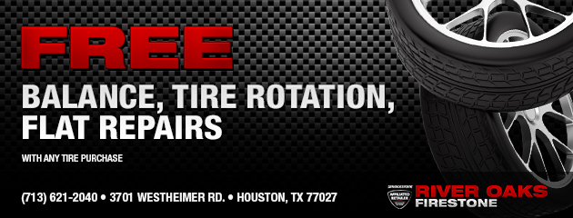 Free balance tire rotation and flat repairs