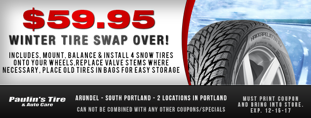 $59.95 Winter tire Swap Over!
