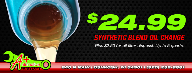 $24.99 Synthetic Blend Oil Change
