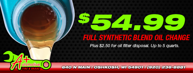 $54.99 Full Synthetic Blend Oil Change