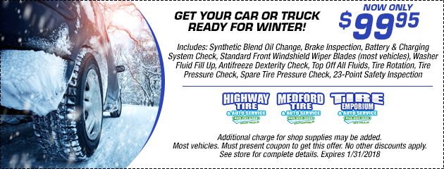 $99.95 Winter Car Care Package