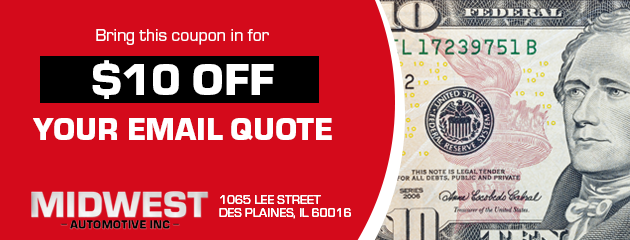 $10 off your email quote