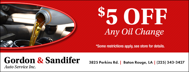 $5 Off Any Oil Change