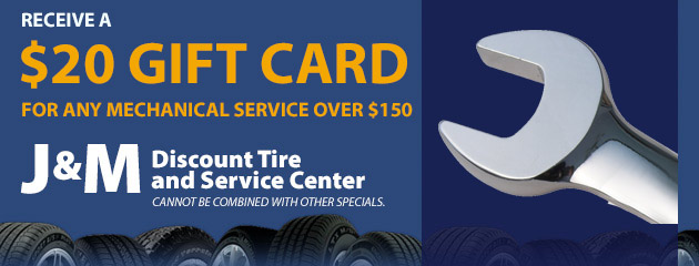 Receive a $20 Gift Card for any mechanical service over $150.