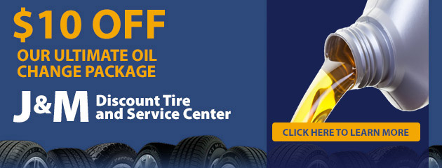 Discount Tire Oil Change >> Tires Coupons J M Discount Tire And Service Center